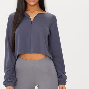 Pretty little things front zip sweater